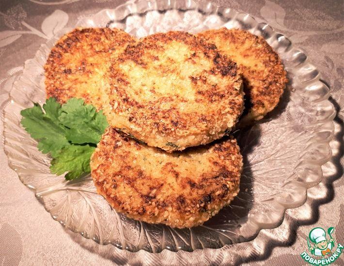 Рецепт: Картофельно-нутовые котлетки