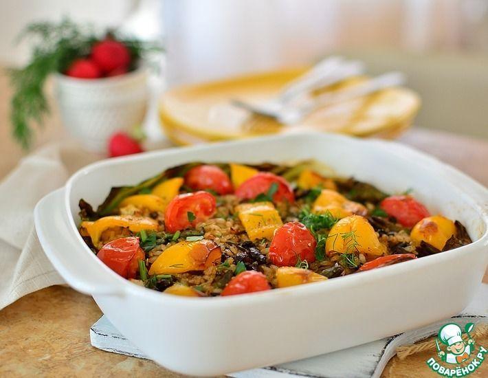 Рецепт: Постный рис с лисичками и овощами