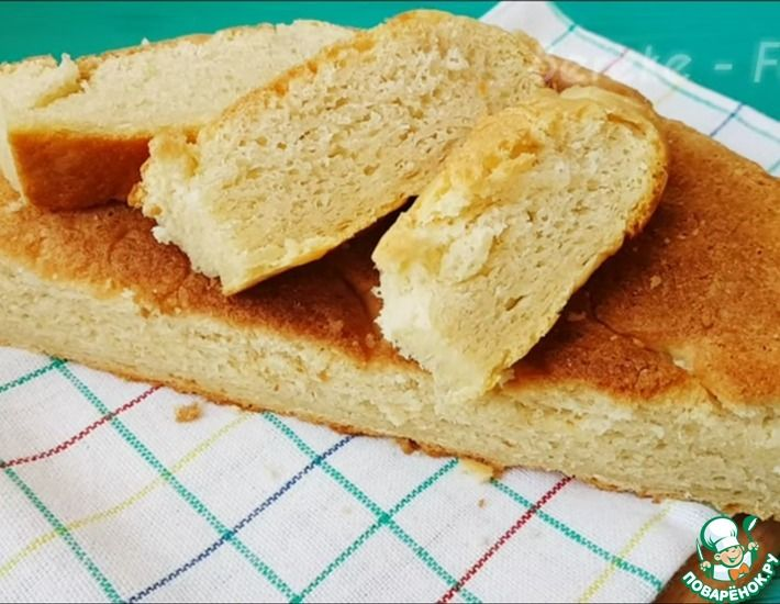 Рецепт: Хлеб как в детстве на сковороде