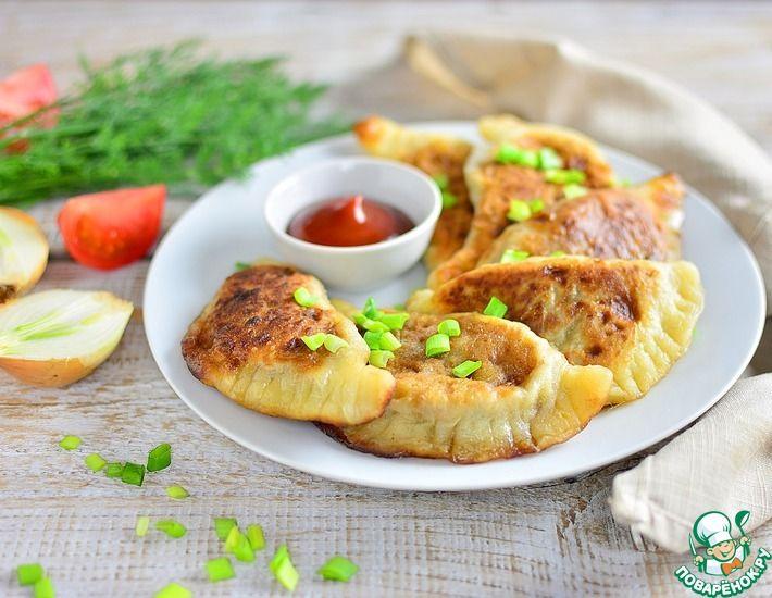 Рецепт: Вареники жареные с гречнево-грибной начинкой