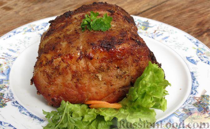 Фото к рецепту: Свинина, запечённая с апельсиновой цедрой