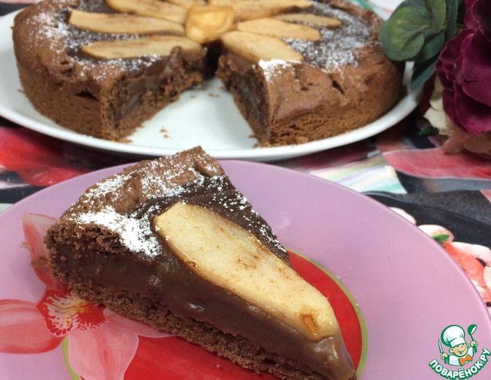 Рецепт: Шоколадная Кростата с кремом и грушей