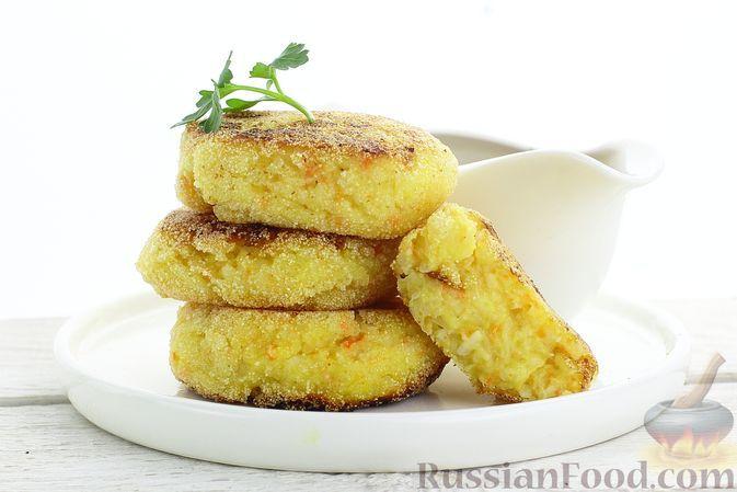 Фото к рецепту: Котлеты из риса, капусты и картофеля