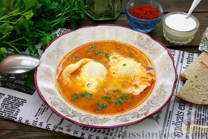 Фото к рецепту: Луковый суп с яйцами