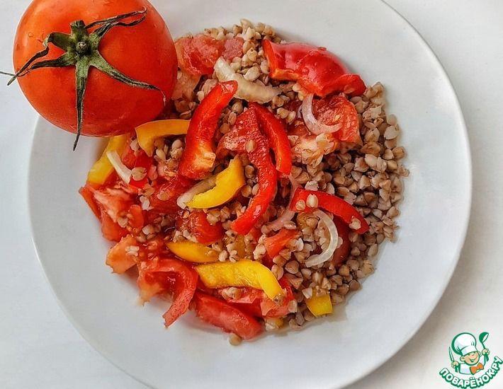 Рецепт: Салат из гречки и овощей