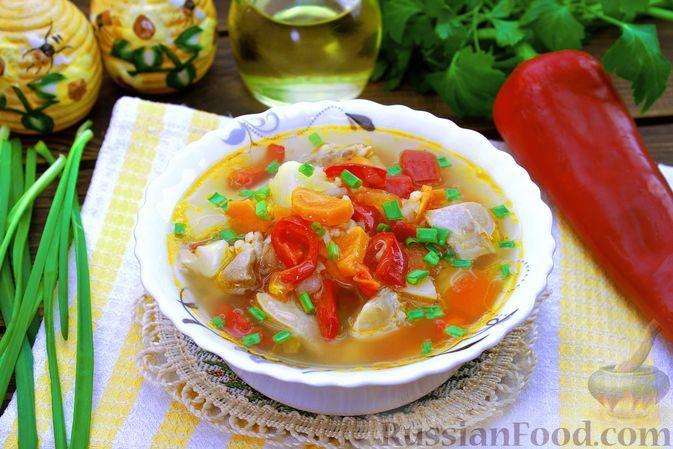 Фото к рецепту: Суп с курицей, булгуром и овощами
