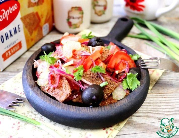 Рецепт: Панцанелла с ржаными хлебцами
