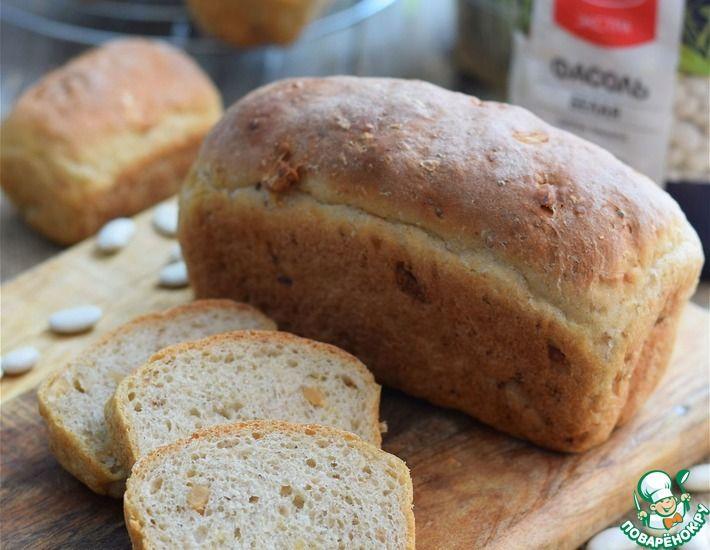 Рецепт: Хлеб фасолевый с луком и орехами