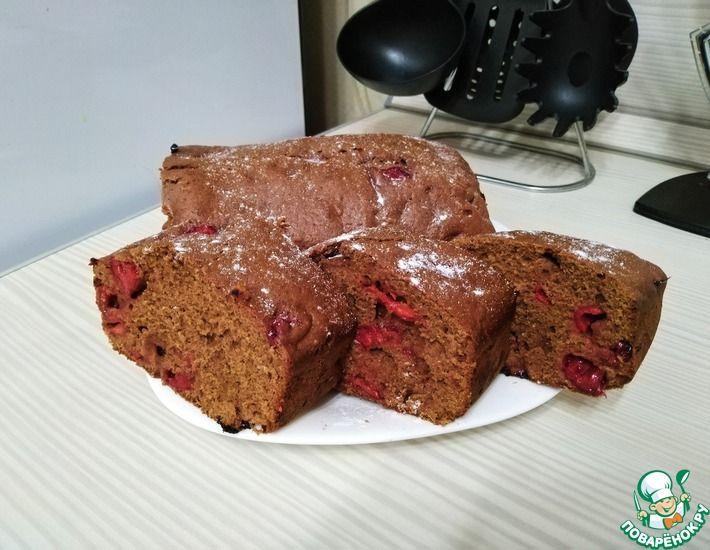 Рецепт: Имбирный кекс с шоколадом и вишней
