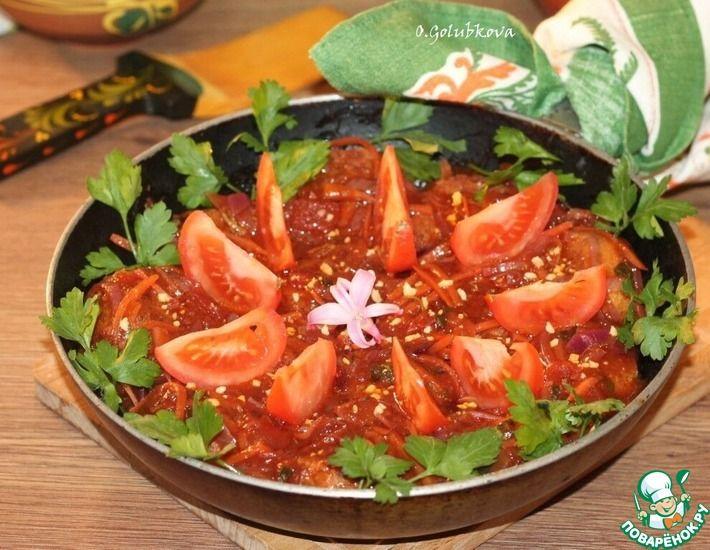Рецепт: Фрикадельки из макарон, фасоли с соусом