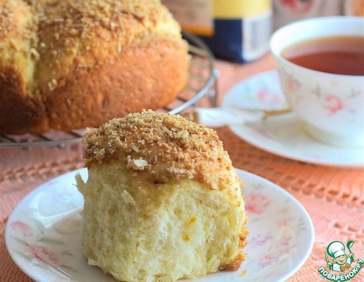 Рецепт: Постные апельсиновые булочки