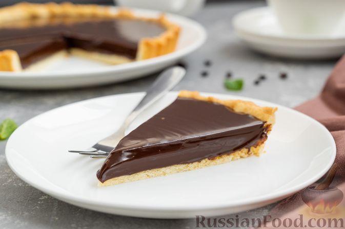 Фото к рецепту: Тарт с шоколадным ганашем