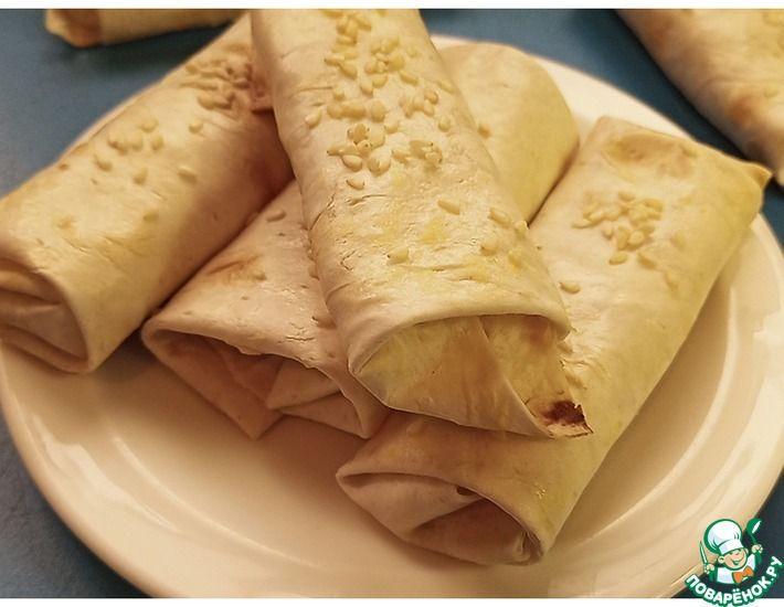 Рецепт: Конвертики из лаваша с картошкой
