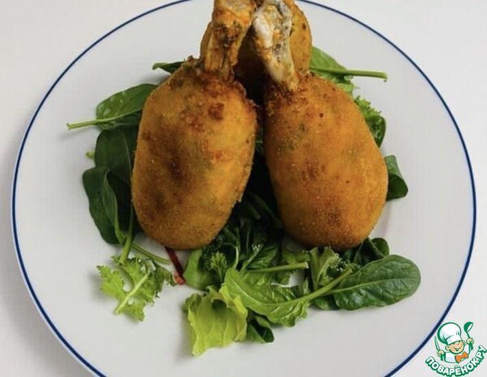 Рецепт: Куриная голень в панировке