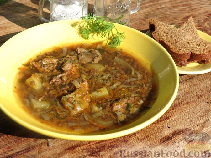 Фото к рецепту: Чечевичный суп с говядиной