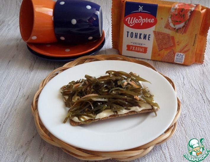 Рецепт: Хлебцы с сыром и морской капустой