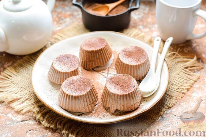Фото к рецепту: Шоколадно-творожный десерт на агар-агаре