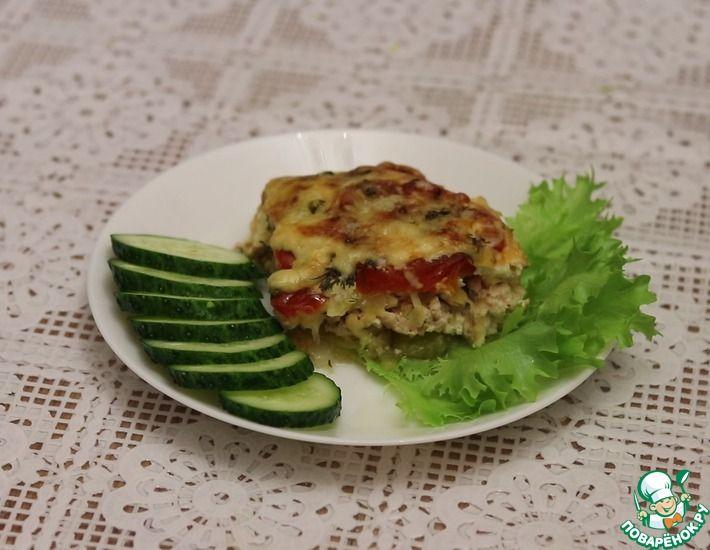 Рецепт: Запеканка с кабачком и курицей