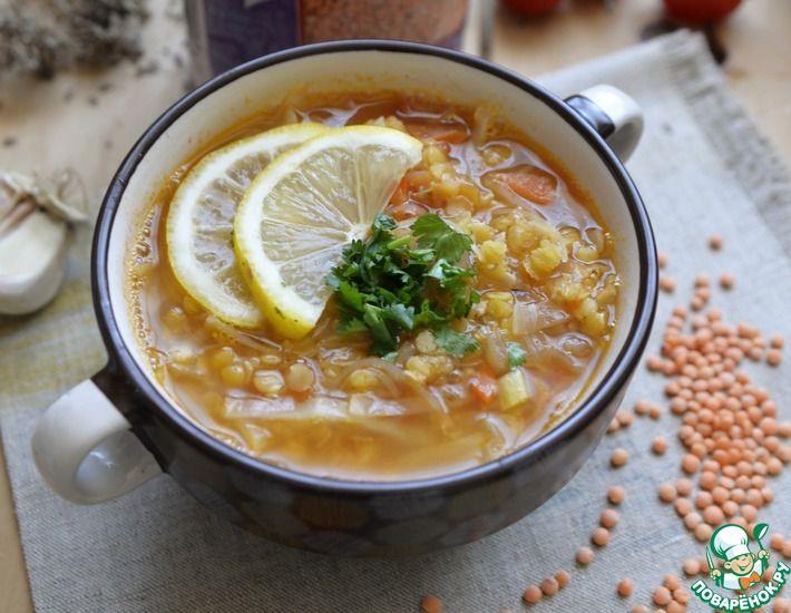 Рецепт: Капустный суп с чечевицей