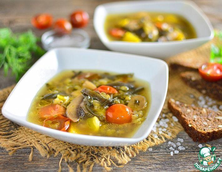 Рецепт: Суп из маша с морской капустой