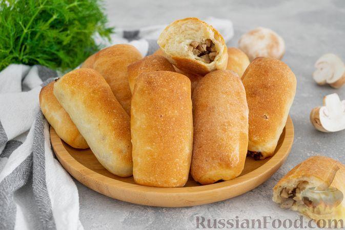 Фото к рецепту: Рулетики из картофельного дрожжевого теста, с грибами