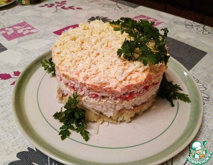 Рецепт: Салат Праздничный слоями