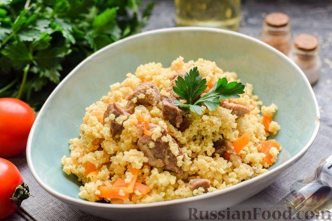 Фото к рецепту: Пшённая каша с индейкой, на сковороде