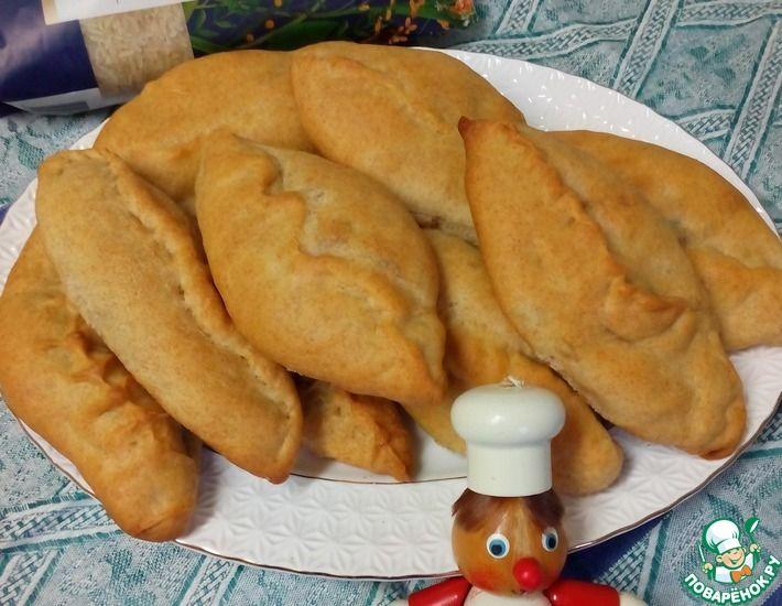 Рецепт: Пирожки с рисом и зелёным луком
