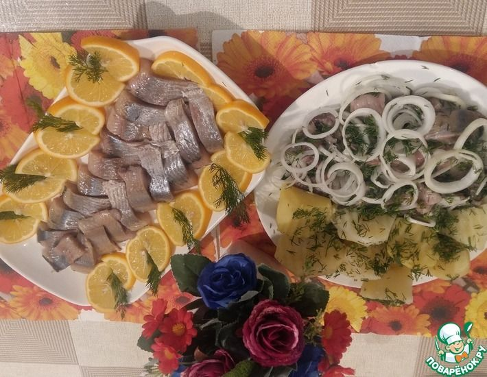 Рецепт: ДВА способа, как красиво и вкусно подать селёдочку к столу