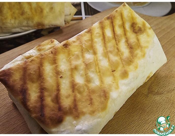 Рецепт: Шаурма с картошкой и курицей