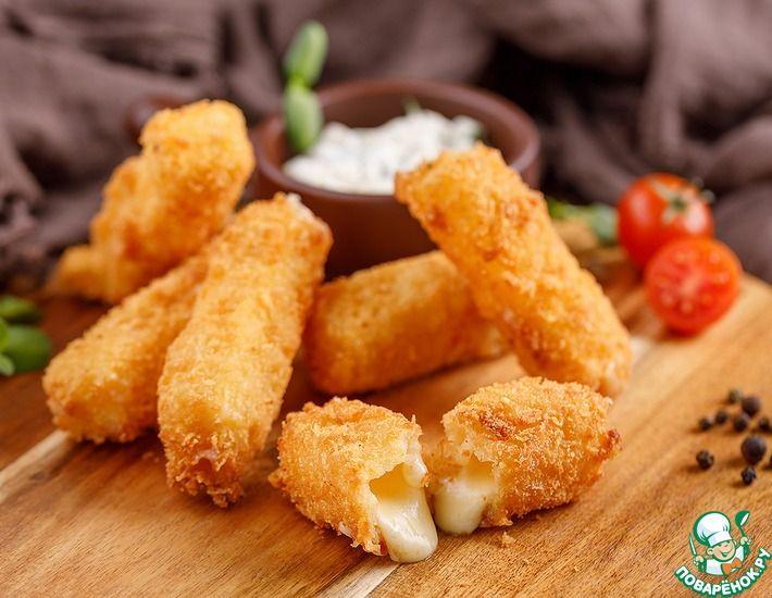 Рецепт: Сырные палочки как в известном ресторане