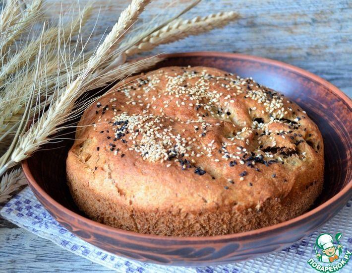 Рецепт: Пирог с чечевицей и жареной капустой