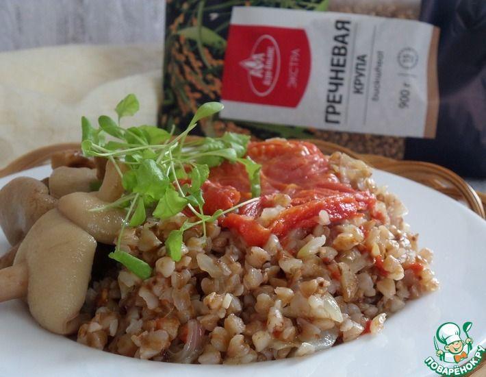 Рецепт: Гречка с чесноком и томатами