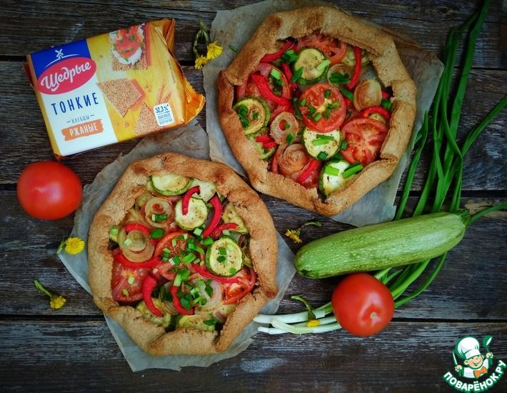 Рецепт: Ржаная галета с овощами