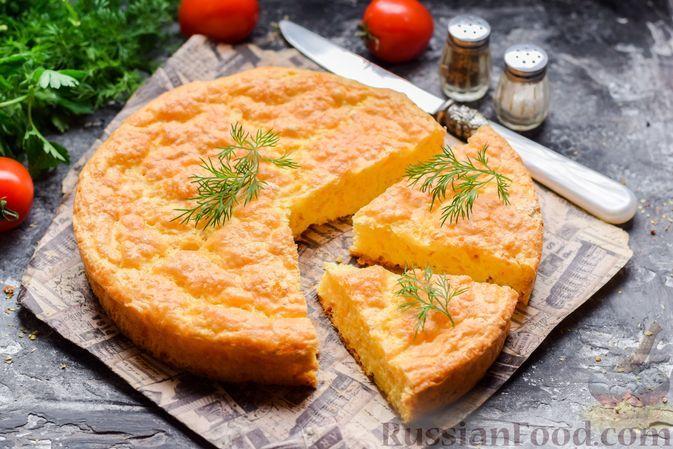 Фото к рецепту: Закусочный сырный бисквит с цедрой лимона
