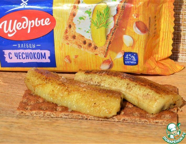 Рецепт: Бутерброд Чокнутый банан