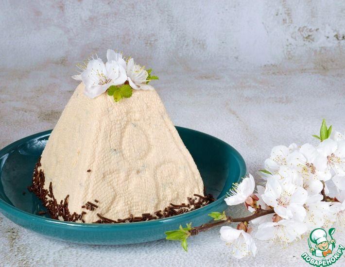 Рецепт: Пасха Карамельная с шоколадными каплями