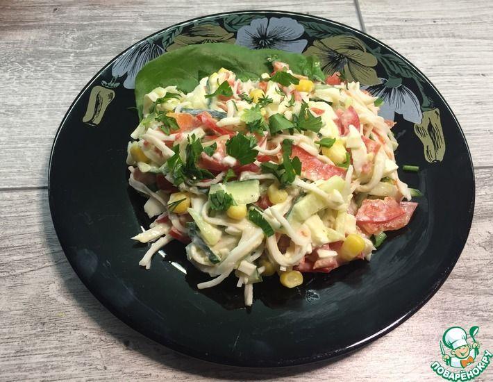Рецепт: Салат с крабовыми палочками Имитация