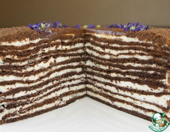 Рецепт: Многослойный шоколадный торт. Медово-шоколадный торт