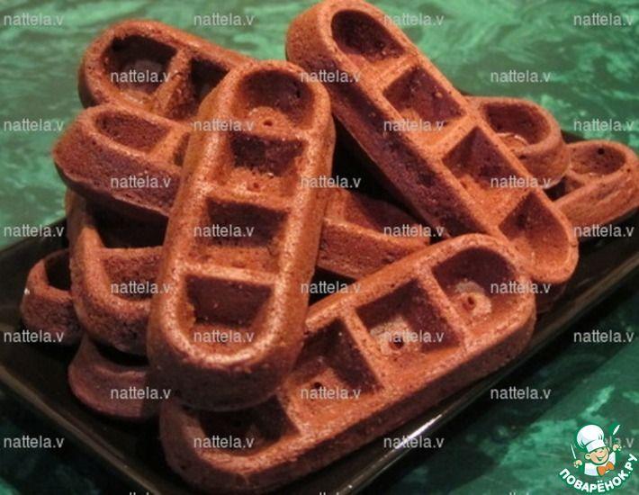 Рецепт: Шоколадные вафли в электровафельнице