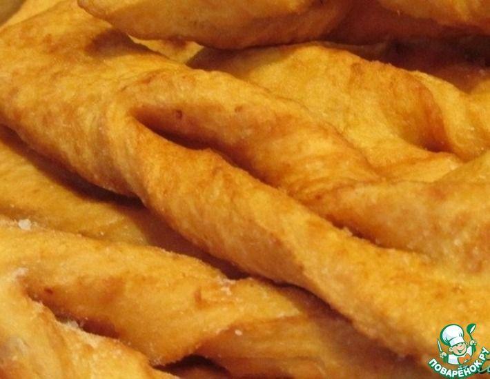 Рецепт: Хворост соленый Картофельный