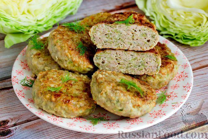 Фото к рецепту: Котлеты из свиного фарша и молодой капусты