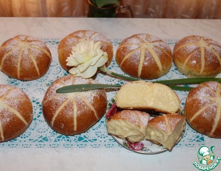 Рецепт: Аппетитные булочки с заварным кремом