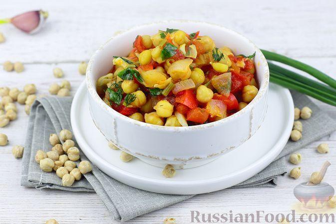 Фото к рецепту: Овощное рагу с нутом