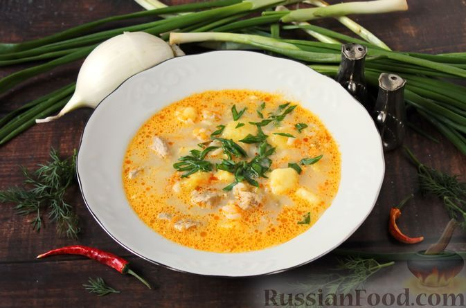 Фото к рецепту: Рассольник с рисом и сметаной