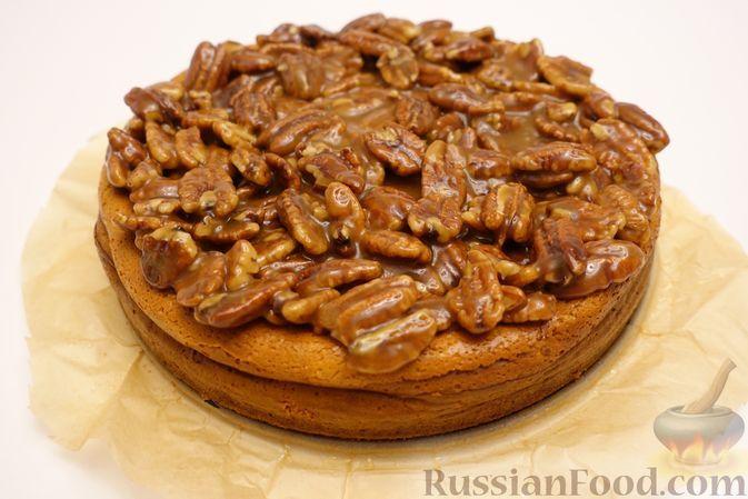 Фото к рецепту: Чизкейк с орехами пекан