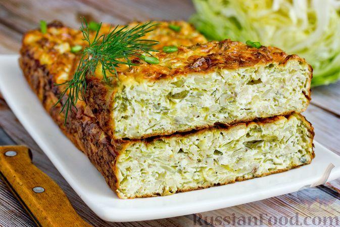 Фото к рецепту: Запеканка из молодой капусты с творогом