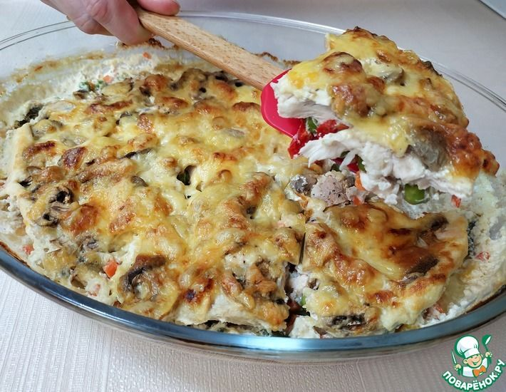 Рецепт: Сочная, нежная куриная запеканка с овощами-ленивый ужин для всей семьи