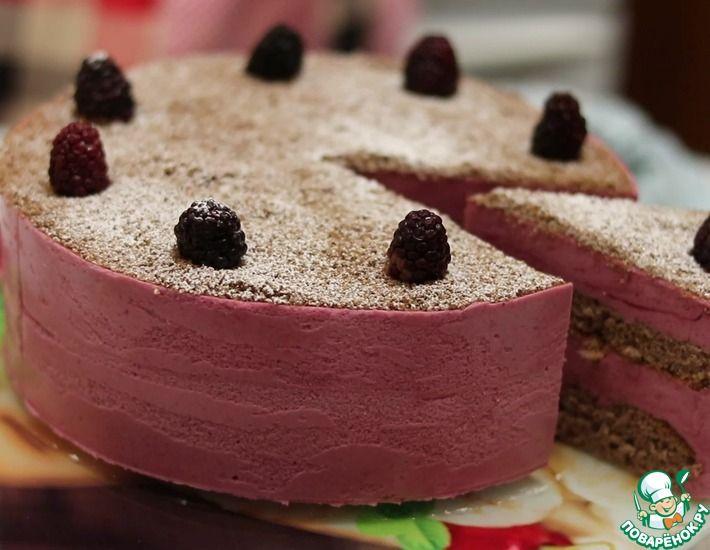 Рецепт: Торт мусс Сливочно-ежевичный