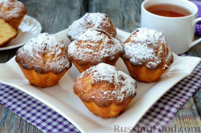 Фото к рецепту: Творожные ванильные кексы